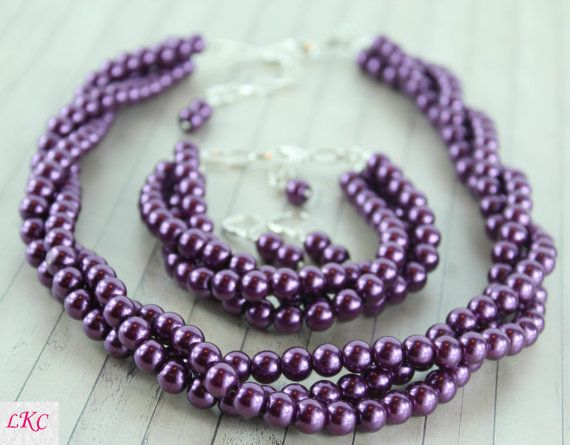 Hey, I found this really awesome Etsy listing at https://www.etsy.com/listing/251147498/purple-wedding-jewelry-purple-bridesmaid