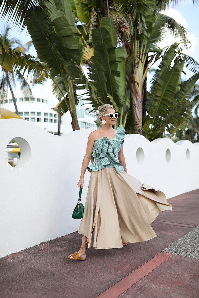Atlantic-Pacific // Green Gingham in Miami