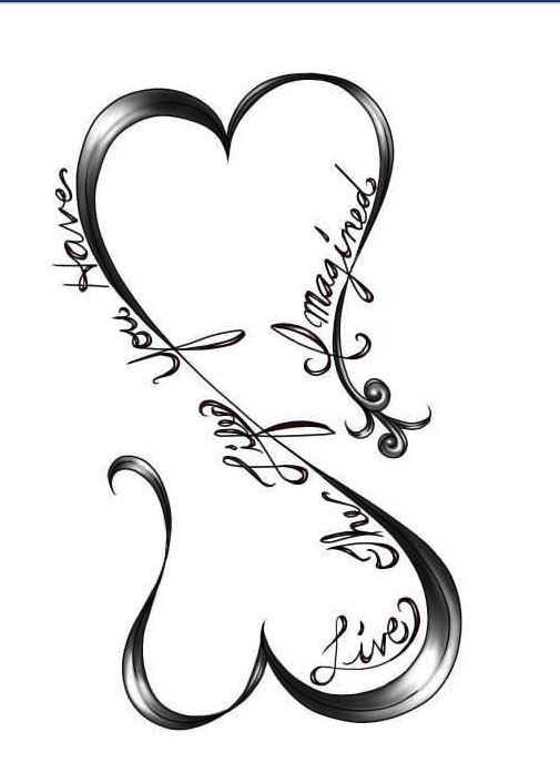 Infinity Heart (With images) | Tattoos for daughters ...