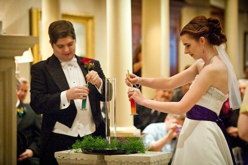 Hows about a little chemistry with your unity ceremony? :) There will be no unity candles at the Caricato - Ferniza wedding.