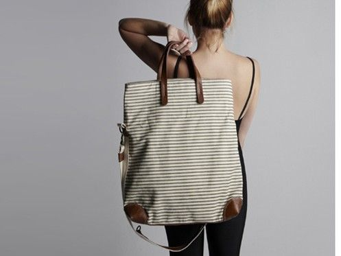 Workhorse bag: Woman Fashion, Bags Awesome Handbags, Stripes Fabrics, Diy Gifts, Genuine Leather, Big Bags, Leather Bags, Missibaba Workhor, Workhor Bags