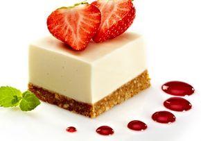 Cheesecake z máslových sušenek, plněný smetanovým krémem