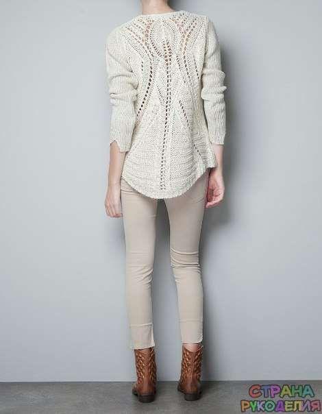 ZARAзительный ажур - свитер спицами - Жакеты,Пуловеры, свитера - Страна рукоделия