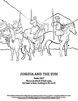 Joshua 10 Sun Stand Still Sunday School Coloring Pages Your Kids Are Going To Love