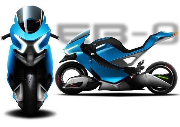 EB-0 motocicleta eléctrica de diseño futurista