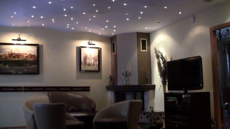 oświetlenie w salonie - nowoczesne oświetlenie salonu - oświetlenie sufi...