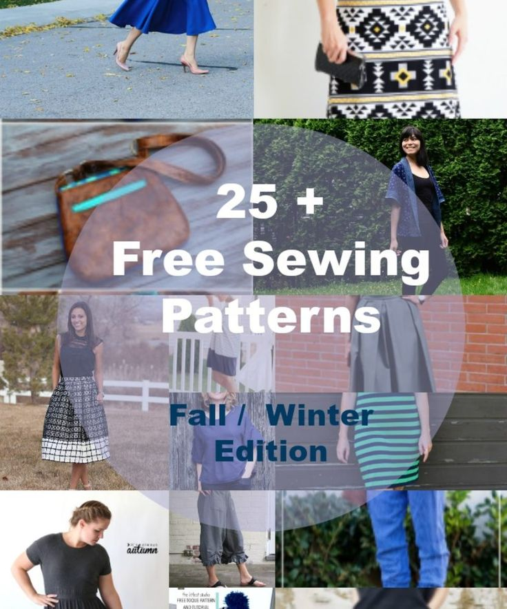 Free Sewing Patterns for Fall Winter Wardrobe