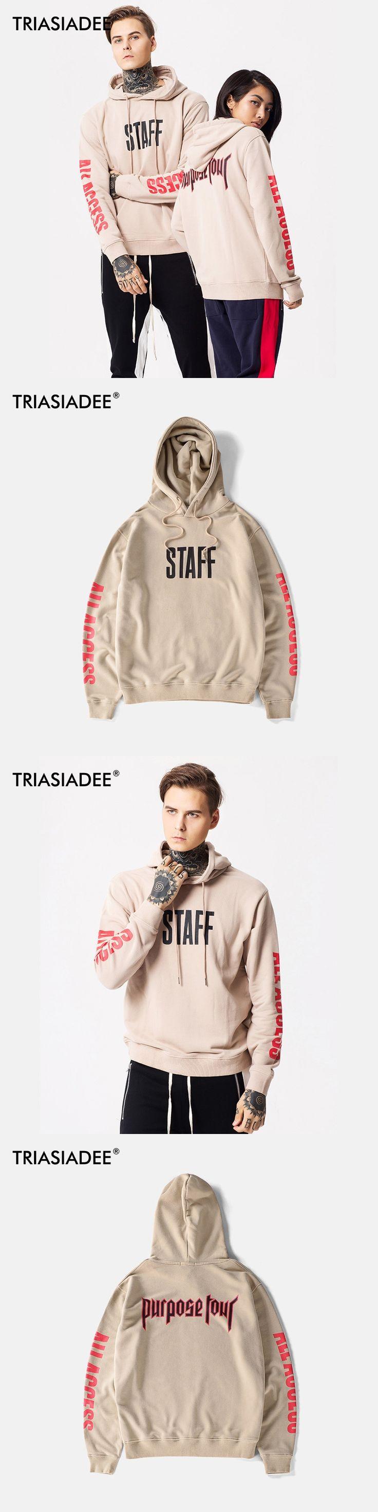 TRIASIADEE Mens Justin Bieber Purpose Tour Hoodie Winter Moletom  Sweatshirt
