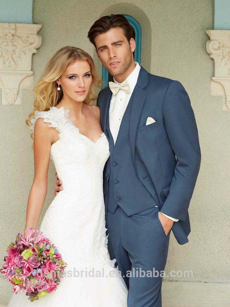 Bleu ardoise deux boutons moderne, épinglette. rabat pocket 2 pièce costumes pour hommes pour le mariage-Costumes et smoking-Id du produit:60093680197-french.alibaba.com