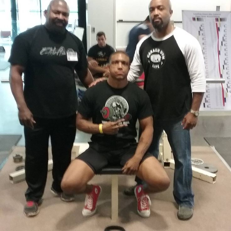 Hanging out with Steve Goggins and Mike Parrott backstage at USA Powerlifting Raw Nationals 2016