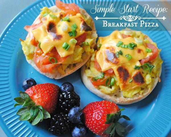 Delicious Breakfast Pizza Recipe from the Simple Start plan and an update. #SimpleStart #WeightWatchers #ad