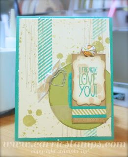 By Carrie Rhoades #stampinup #gorgeousgrunge