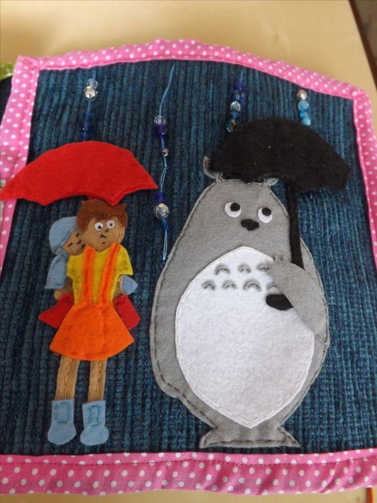 Quiet book Totoro - rain