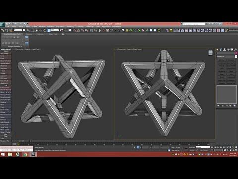 3d Tutorial | Sacred Merkaba For 3d Printing | 3dsmax