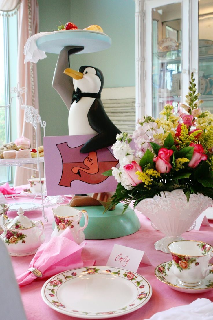 Penguin server is perfect for a Mary Poppins party