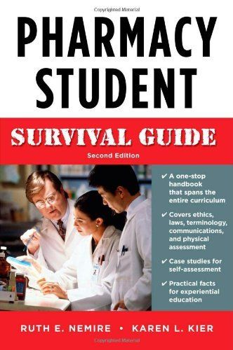 Pharmacy Student Survival Guide, Second Edition (Nemire, Pharmacy Student Survival Guide) by Ruth Nemire. $47.97. Publication: May 27, 2009. Publisher: McGraw-Hill Medical; 2 edition (May 27, 2009). Edition - 2. Save 17% Off!