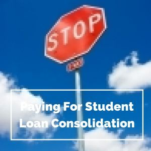 Stop Paying For Student Loan Consolidation - Companies like Student Processing Center and Student Aid Center charge up front fees for student loan consolidation when students can do it themselves. Student loan forgiveness #debt #college #studentloan
