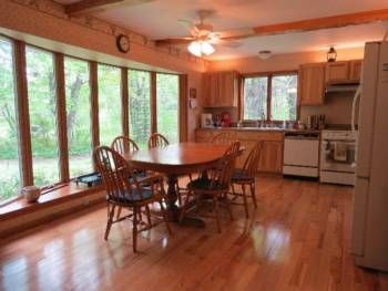 Hickory Custom Cabinets Flooring In This Home At 4243 Two Mile Road Gladwin
