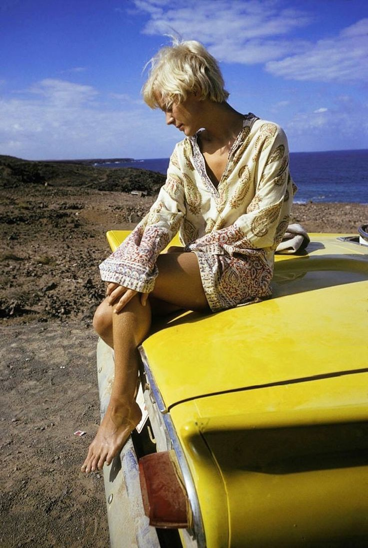 Actress Mimsy Farmer, photographed by Giancarlo Botti, France, October 1968