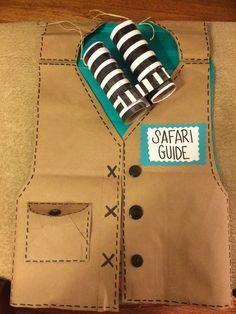 DIY Safari vest and binoculars for a safari themed classroom!