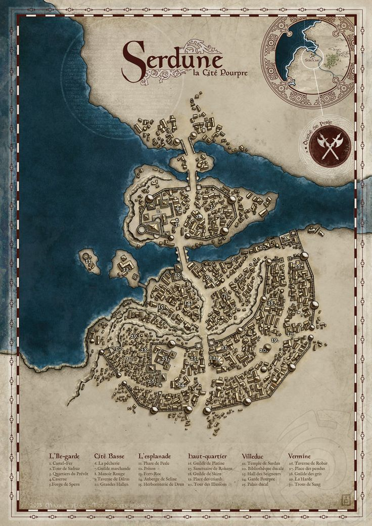 A city map made for a private