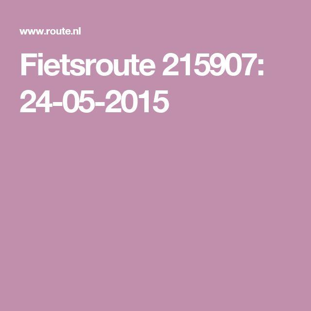 Fietsroute 215907: 24-05-2015