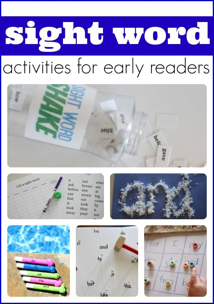 Lots of fun and engaging ideas to help your child automatically recognize sight words!