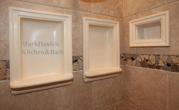 Recessed Bathroom Tile Niches - traditional - shower caddies - dc metro - Bathroom Tile Shower Shelves