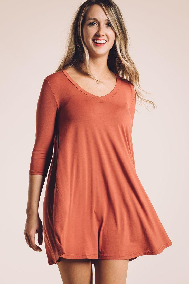 Becca Piko Dress in Dark Red