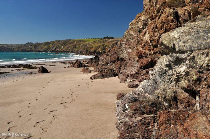 Serpentine rocks at Kennack Sands, Cornwall