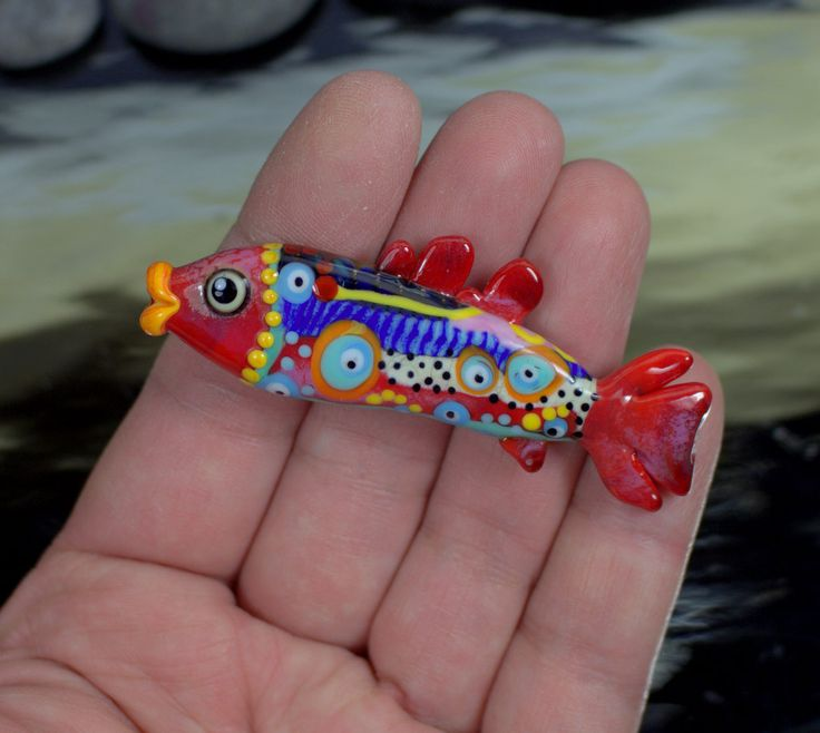 °° FISH °° lampwork focal bead by jasmin french