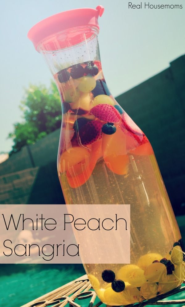 This fruity sangria is full of summer flavors like peach, and berries. It's perfect for a summer day by the pool. Author: Aubrey Recipe type: cocktail Serves: 8 Ingredients 56 oz. Moscato wine (I used a large bottle of Barefoot) 1 c. Peach Schnapps ½ c. simple syrup 1 peach, sliced 1 naval orange, sliced 1 c. strawberries, sliced 1 c. green grapes ¼ c. blueberries ¼ c. blackberries