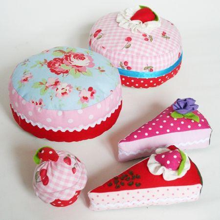 Kuchen Und Torten Aus Legger Stoff Pincushions Pinterest