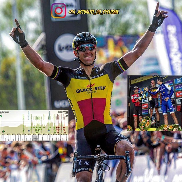 """Philippe Gilbert (Quick Step) wins the Tour of Flanders (World Tour) 29"""" before Greg Van Avermaet (BMC), Niki Terpstra (Quick Step) and Dylan Van Baarle (Cannondale) and 53"""" before Alexander Kristoff (Katusha).  Philippe Gilbert (Quick Step) remporte le Tour des Flandres (World Tour)."""