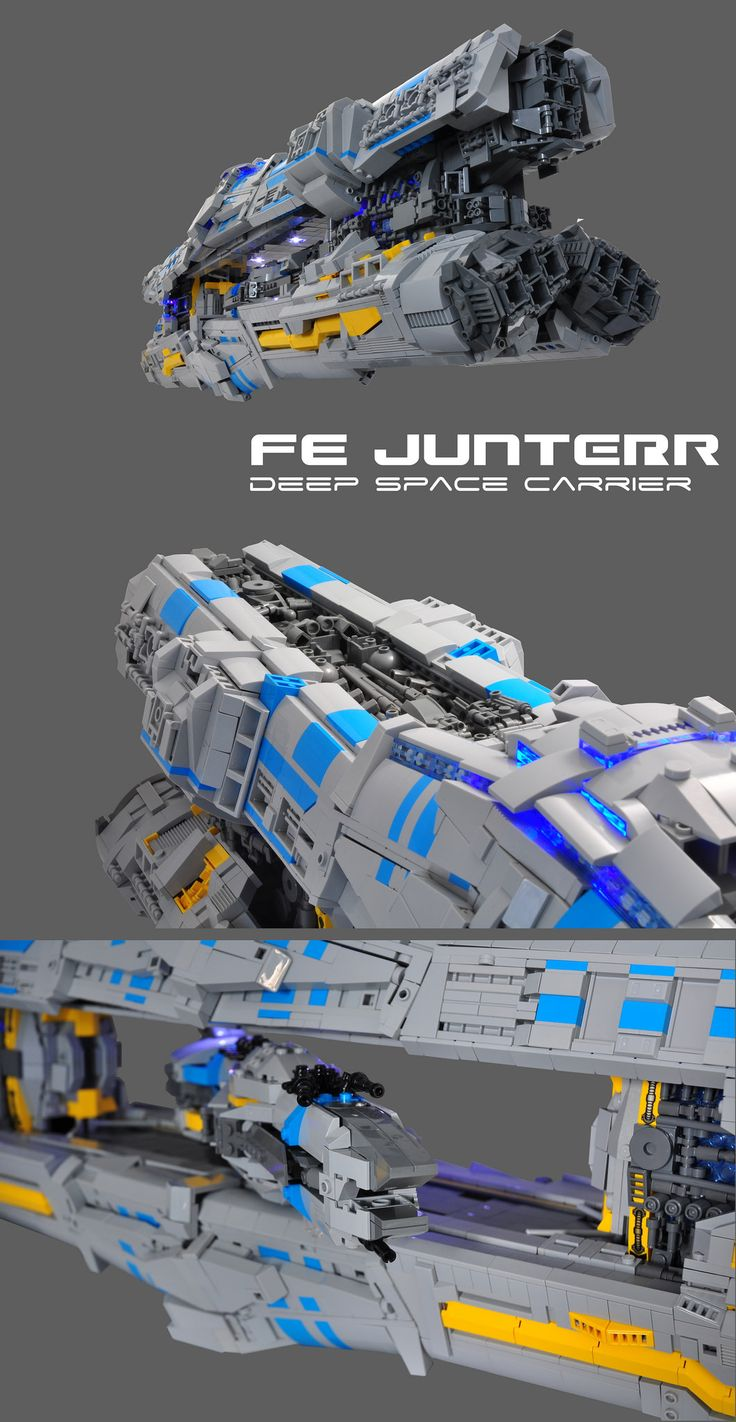 https://flic.kr/p/y744x6   FE JUNTERR   The JUNTEER class deep space carriers are the FE's workhorses, acting as glorified boosters and  mobile colonies.   Equipped with SlipStreamSkip drive and their large hangar, they're the only choice to transporting frigates and corvettes outside of the Tannhäuser ring network.   They can be deployed in long term maneuvers, or engage in continual skip distance ferrying of ships.   Though unarmed, they depend on the armaments of their 'belly ships' to…