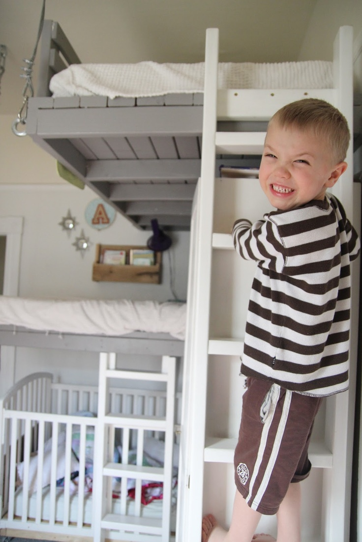 17 best images about loft beds on pinterest cool loft for Suspended beds for kids