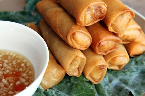 Vietnamese Egg Rolls are marinated ground pork rolled in egg wrappers and deep fried. It can be eaten as a main dish with a fish sauce dipping sauce, or it can be eaten as a component to a main dish like Vietnamese Grilled Pork with Vermicelli Noodles, Bun Thit Nuong. There are many variations