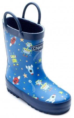 Chipmunks Robbie Blue Wellingtons