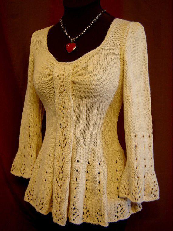 Evangeline Tunic Knitting Pattern-PDF