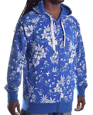 Ecko Unltd. Men's Floral In Hawaii Full Zip Hoodie