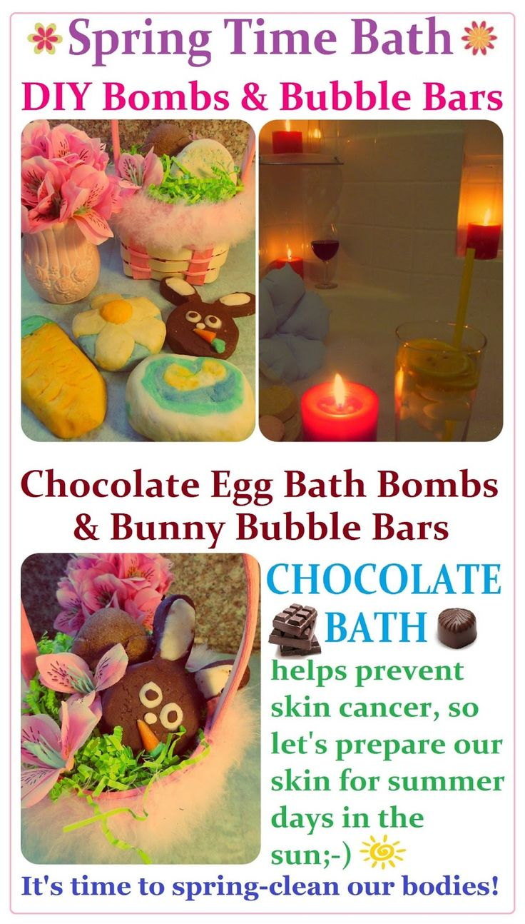 DIY Spring time Bubble Bars & Bath Bombs Recipe + Easter