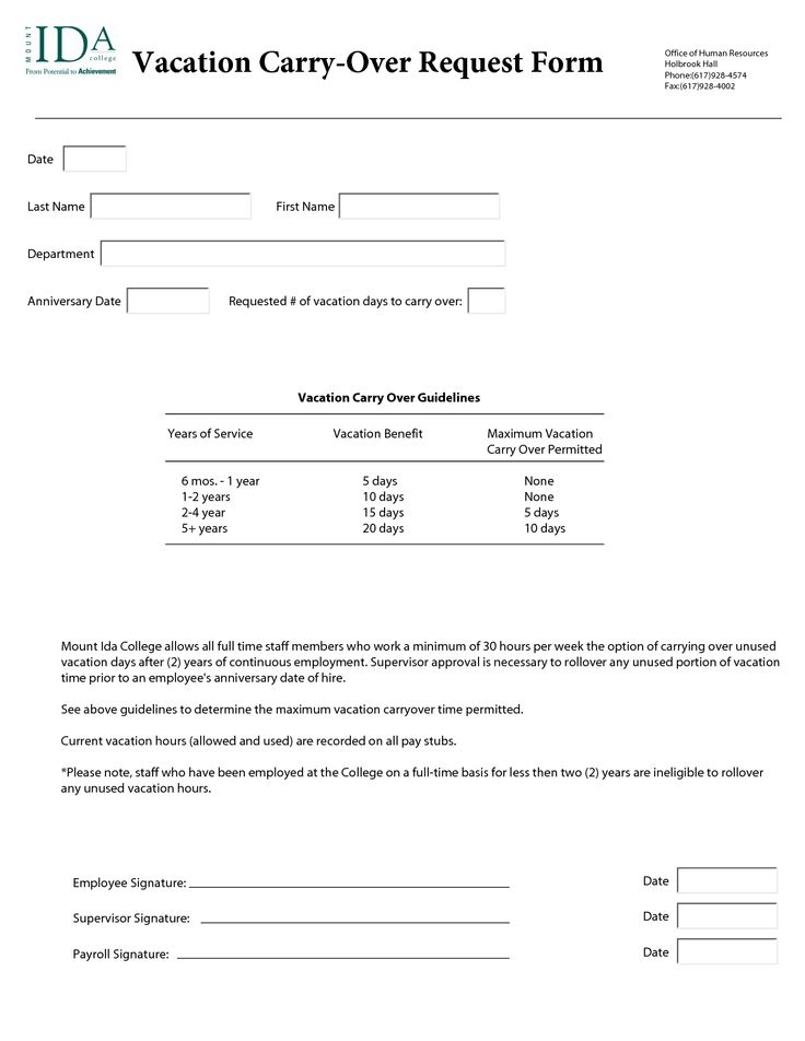 annual leave request form template