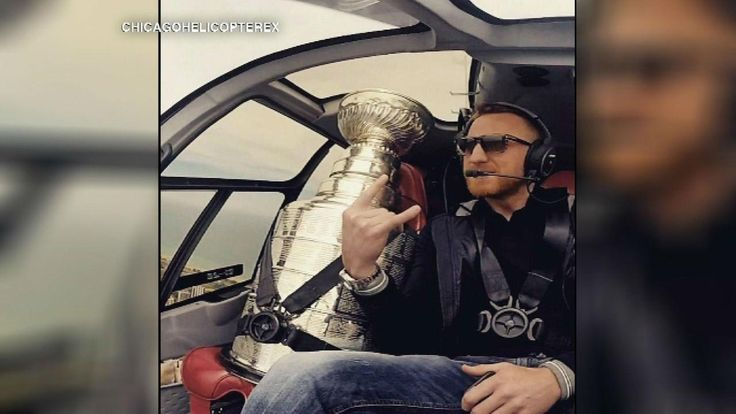 Where's the Cup? Lord Stanley spends day with Marian Hossa ...