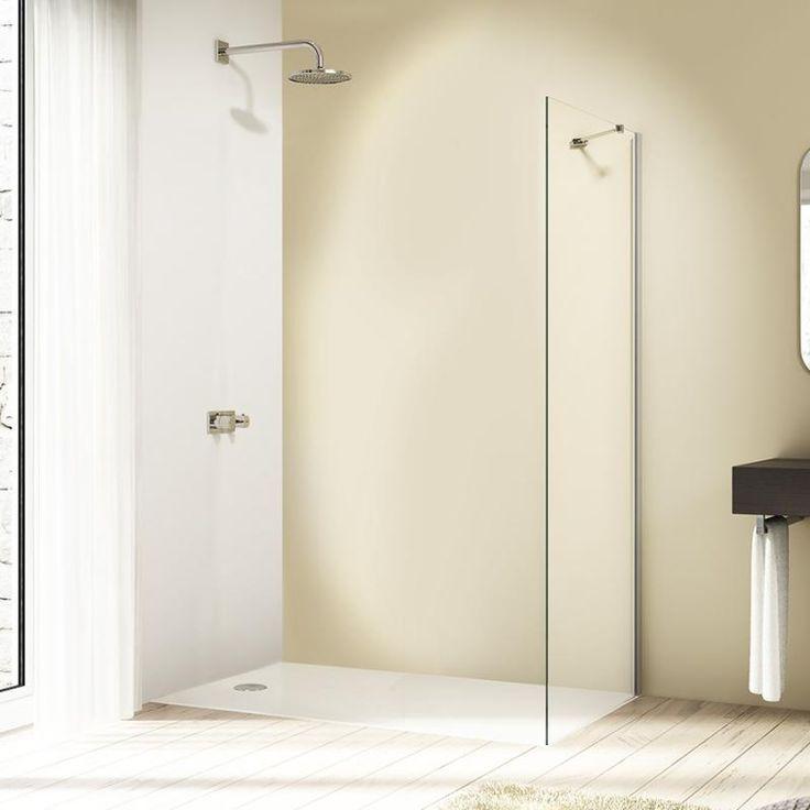 Hüppe Design Elegance standalone side panel clear glass / matt silver