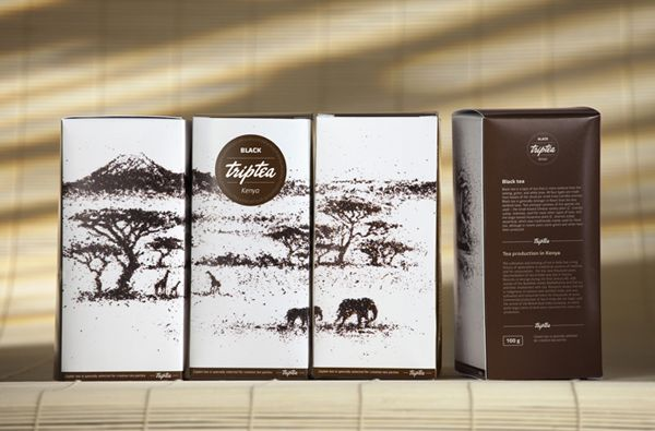 """Since the brand, its communication and packaging were designed simultaneously, the semantic component was reflected in all cells at once. Naming the brand was based on two strong associations: first, TripTea is a tea travel, and secondly, TripTea tunes in the familiar and figurative word """"triptych"""" - three-part painting, that completely reveals one key message in different subjects."""