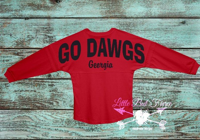 Georgia Bulldogs Oversized Jersey! You Choose Color and text! Bulldogs, Mascot, Georgia Bulldogs Spirit Jersey by LittleButFierceCo on Etsy