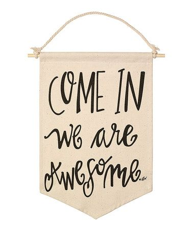 This 'Awesome' Canvas Banner by Collins is perfect! #zulilyfinds     Back with uniform plaid!