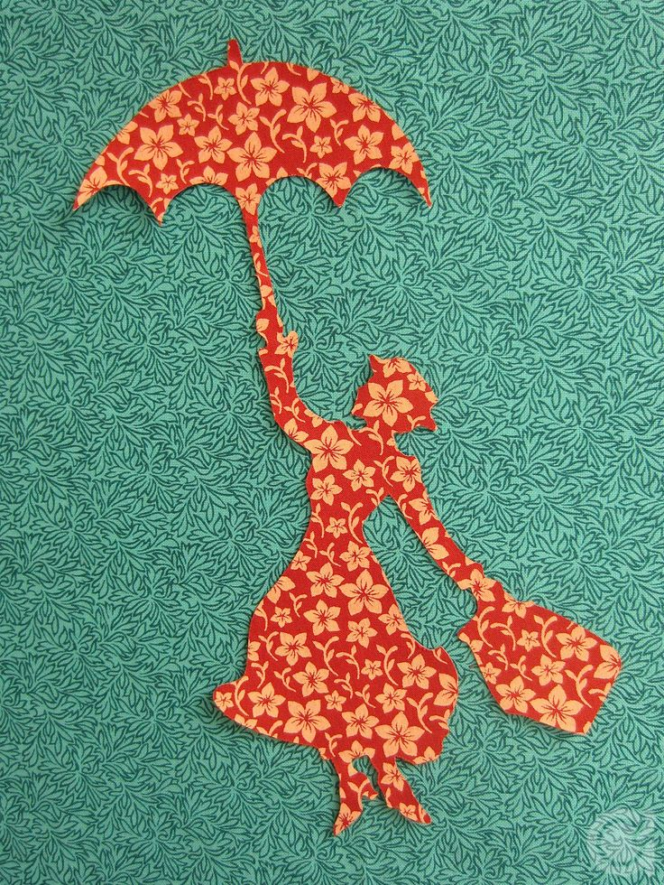 Mary Poppins applique pattern