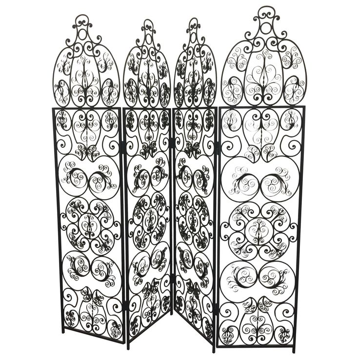 Decorative Iron Filigree Screen Room Divider | Room ...