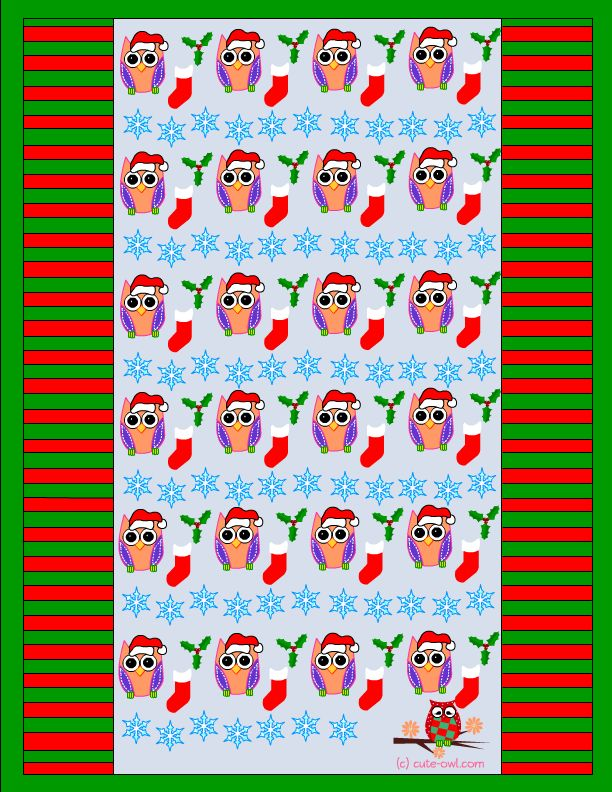 free printable christmas owl candy wrapper | Owls ...